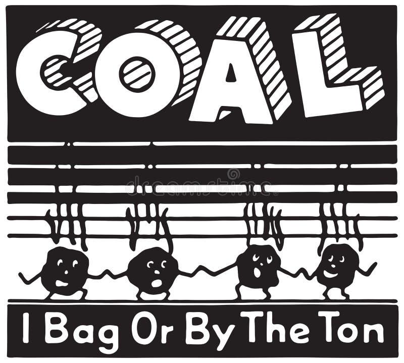 steenkool stock illustratie