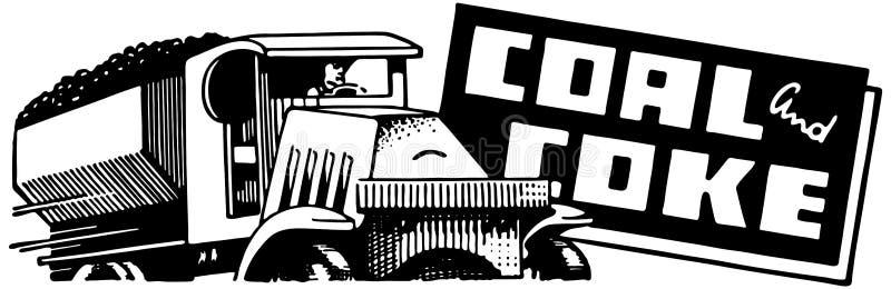 Steenkool en Cokes royalty-vrije illustratie