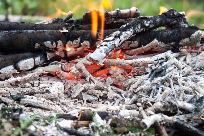 Steenkool en houten as royalty-vrije stock afbeeldingen