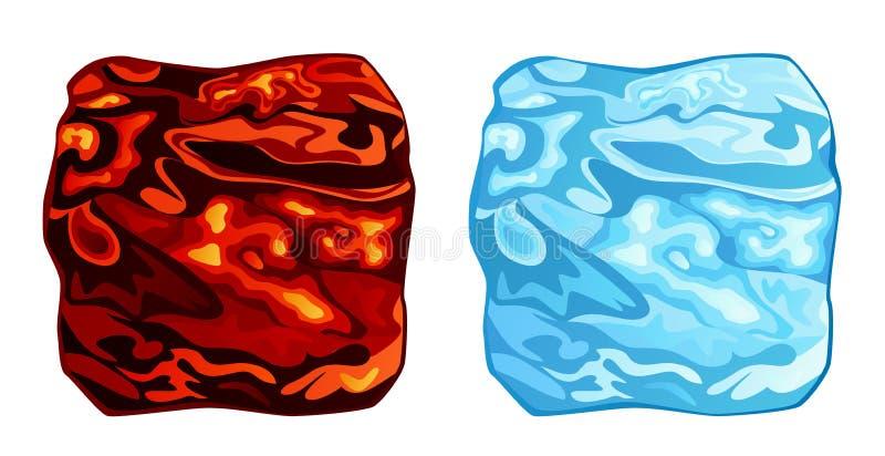 Steenkool en ijs vector illustratie