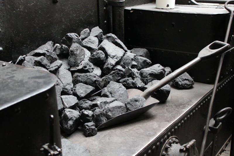 Steenkool en uitstekende schop 7286 royalty-vrije stock foto's