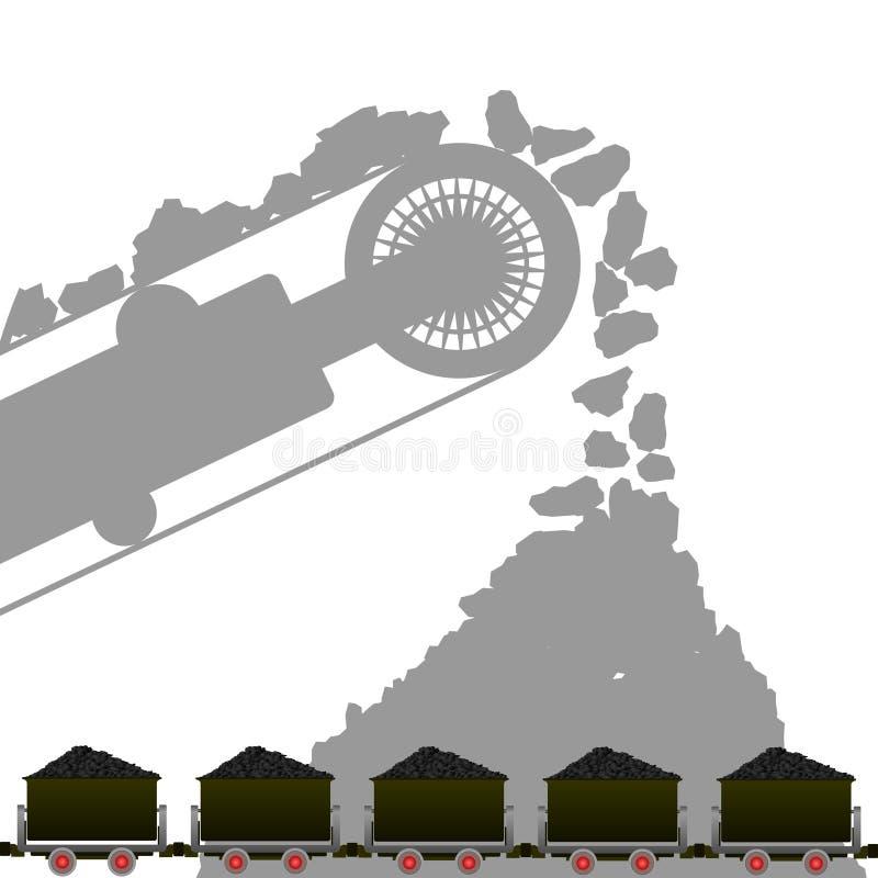 Steenkool industrie-1 royalty-vrije illustratie