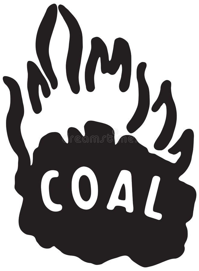 Steenkool 2 royalty-vrije illustratie