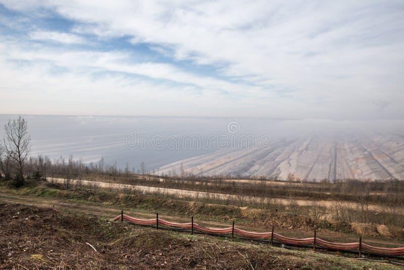 Steenkooldagbouw hambach Duitsland stock afbeeldingen