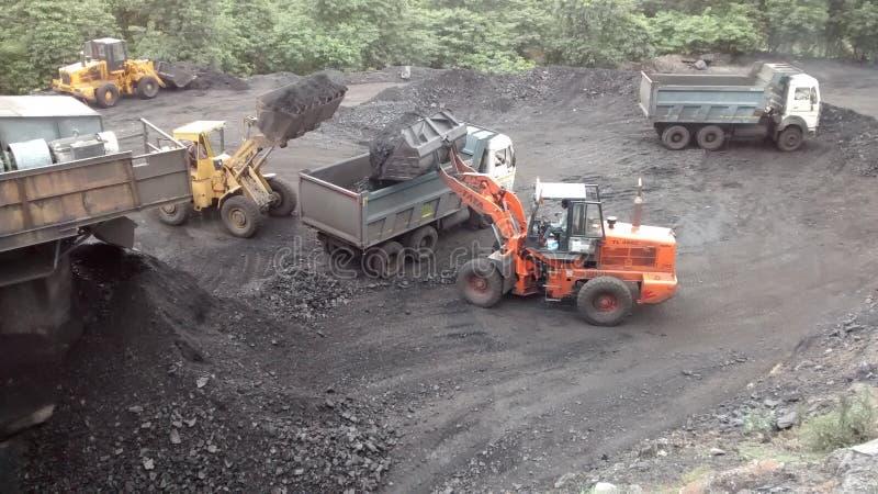 Steenkoollading stock foto's