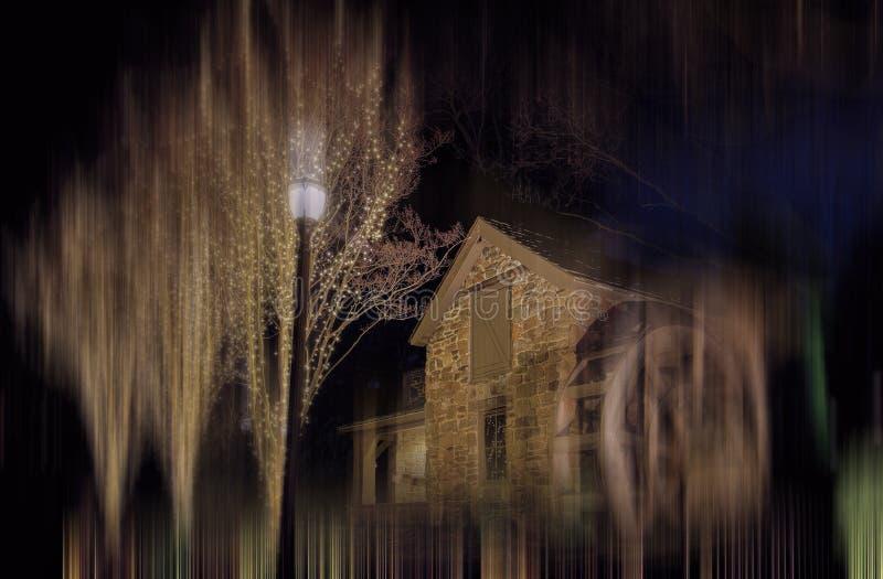 Steenmolen en Houten Waterrad--Oud Evans Farm, McLean, Virginia stock fotografie