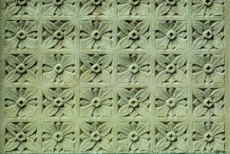 Steenornament op de muur royalty-vrije stock fotografie