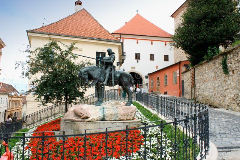Steenpoort (Kamenita Vrata) Zagreb, Kroatië stock foto