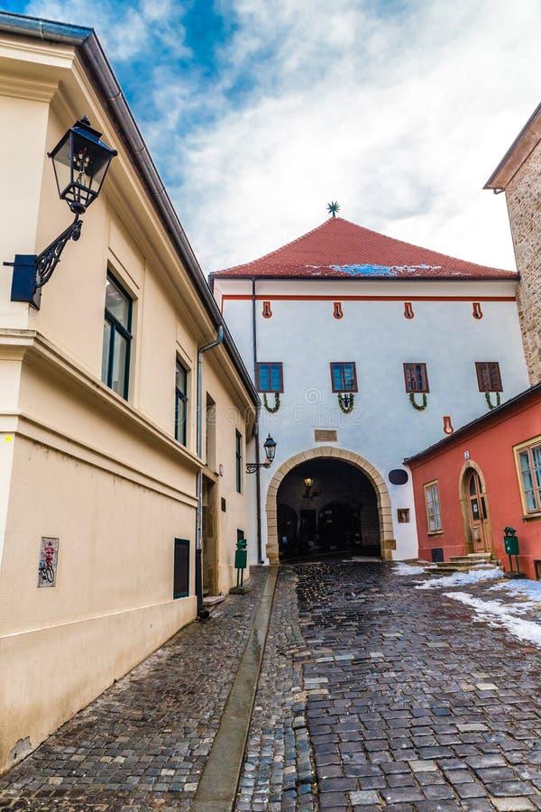Steenpoort - Zagreb, Kroatië stock foto's