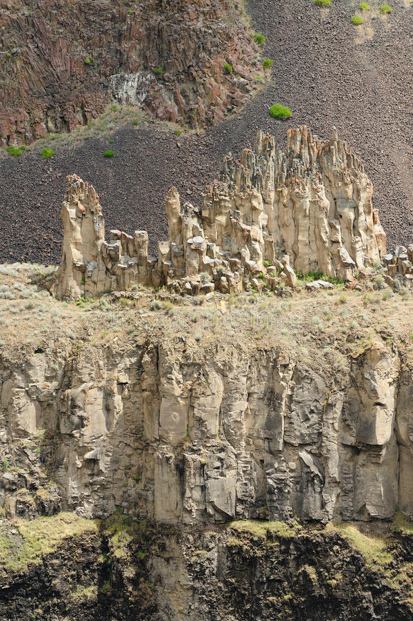 Steep cliff royalty free stock photos