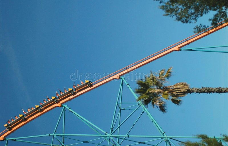 Steep Drop Coaster stock photography