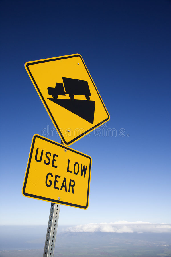 Download Steep Grade Truck Sign, Maui, Hawaii. Stock Image - Image: 2037709