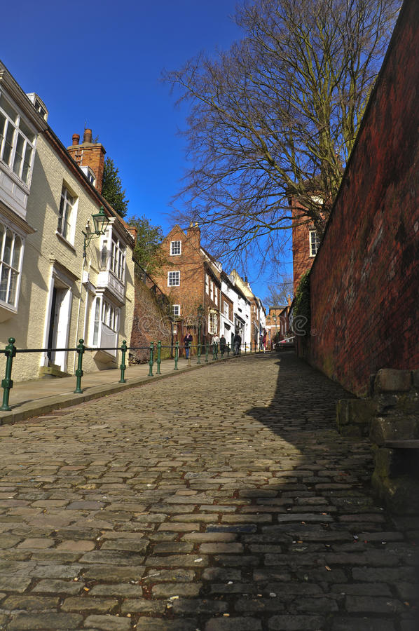 Download Steep Hill Lincoln stock image. Image of pedestrians - 14852475