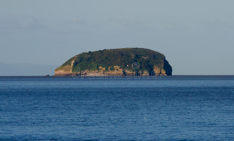 Steep Holm Island Bristol Channel Somerset Royalty Free Stock Images