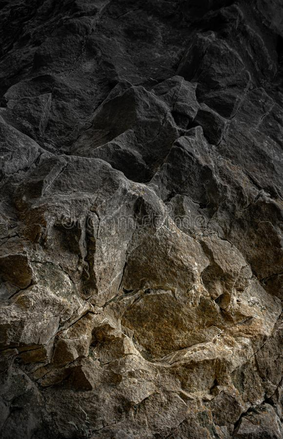 Steep rocky cliff with warm accent. In the Carpathian Mountains royalty free stock photography