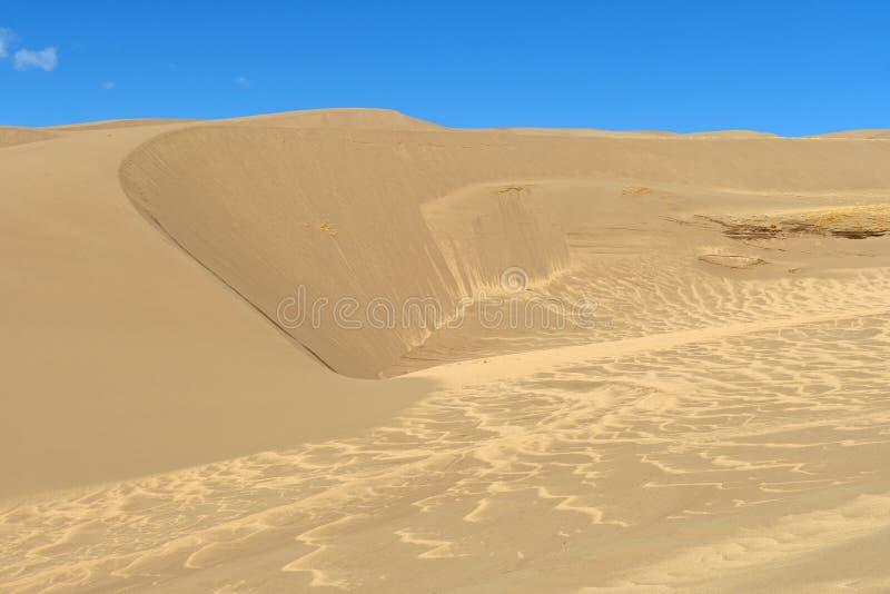 Steep Sand Ridges in the Sand Dunes stock photos