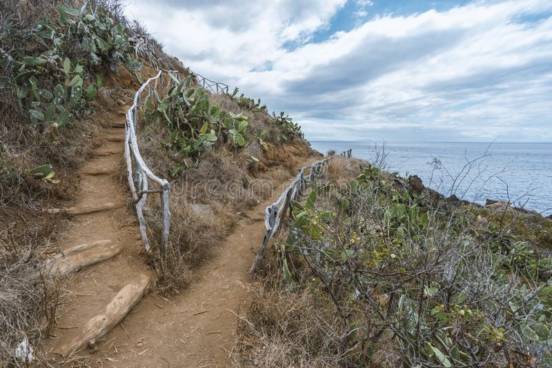 Steep slope pathway stock photography