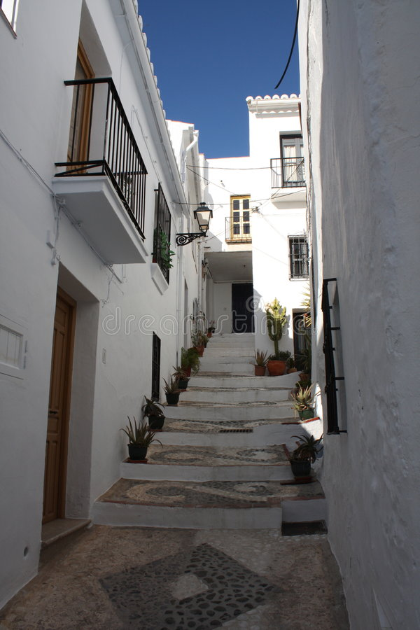 Steep Steps ( Frigiliana, Spain ) royalty free stock image