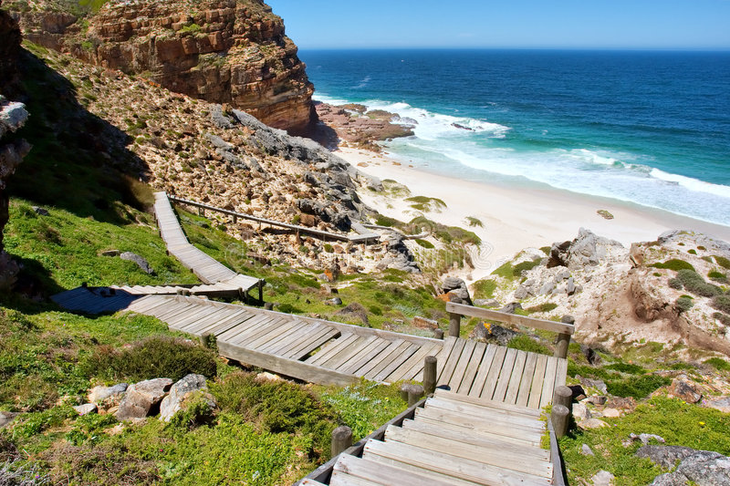 Download Steep Woodwalk Down To Beach Stock Photo - Image of mountain, park: 6773938