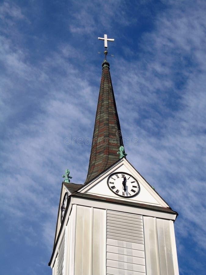 Download Steeple à temps image stock. Image du pays, chrétien, historique - 85697
