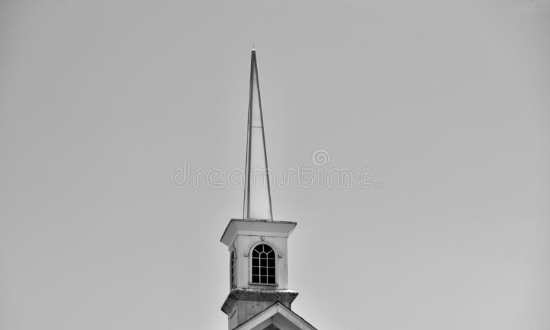 Steeple церков в черно-белом стоковое фото rf