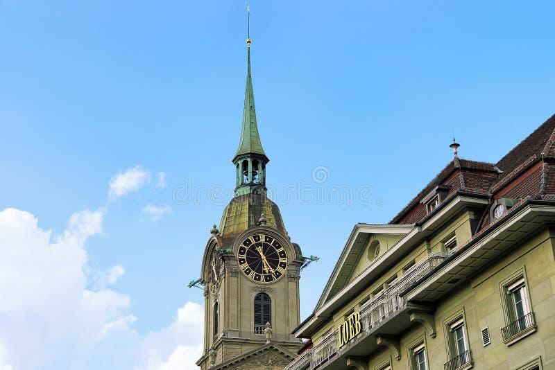 Steeple церков святого духа в Bern стоковое изображение