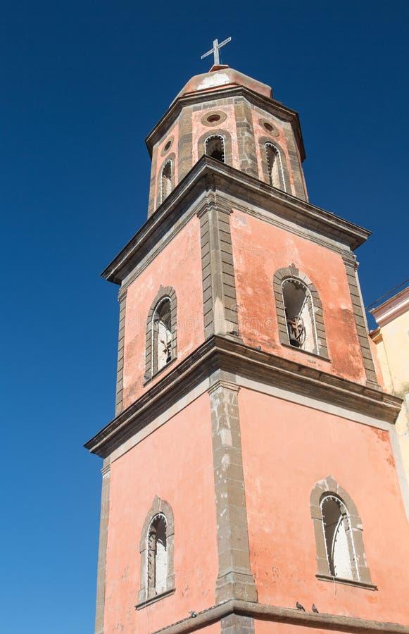 Steeple церков Santa Maria Cheia, Vico Equense, Napl стоковое изображение rf