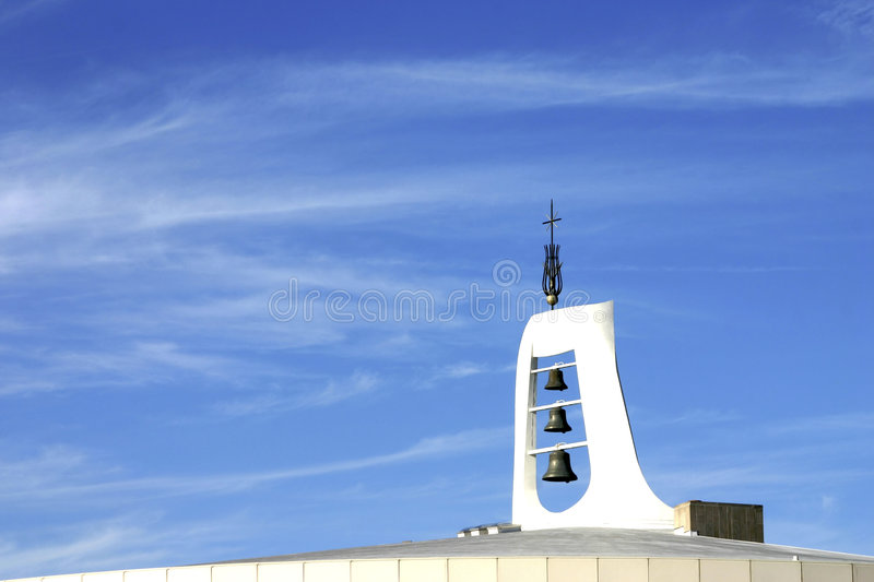 Download Steeple with bells stock image. Image of blue, religion - 1712067