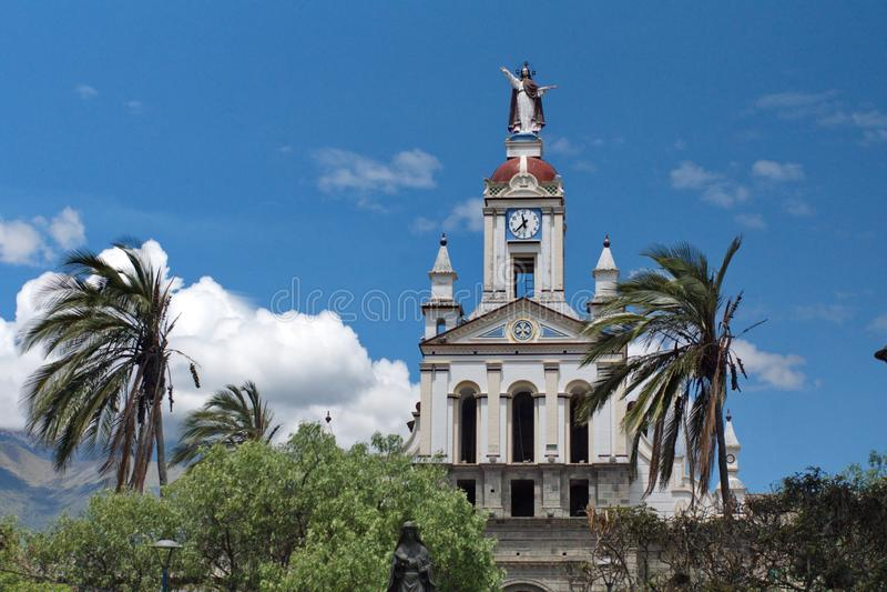 Catholic church in Matriz Park stock photos
