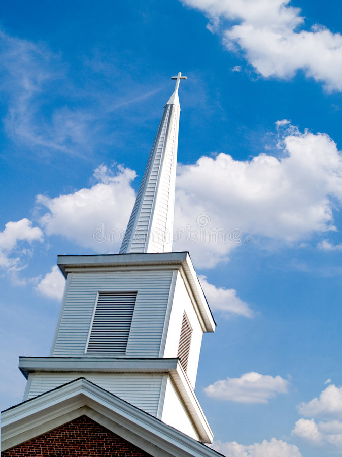 Steeple da igreja foto de stock