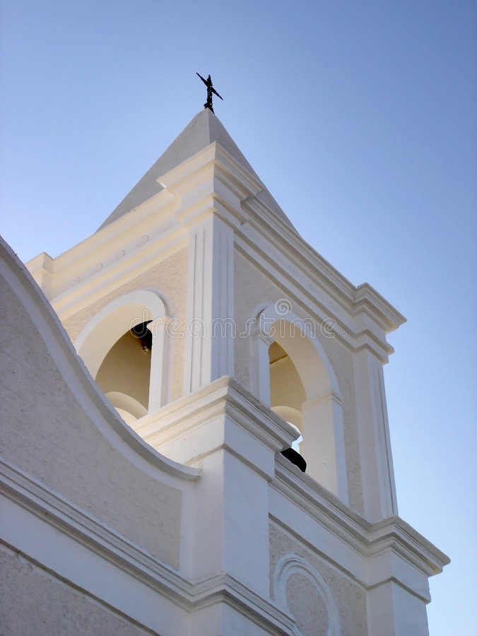 Steeple della chiesa fotografie stock