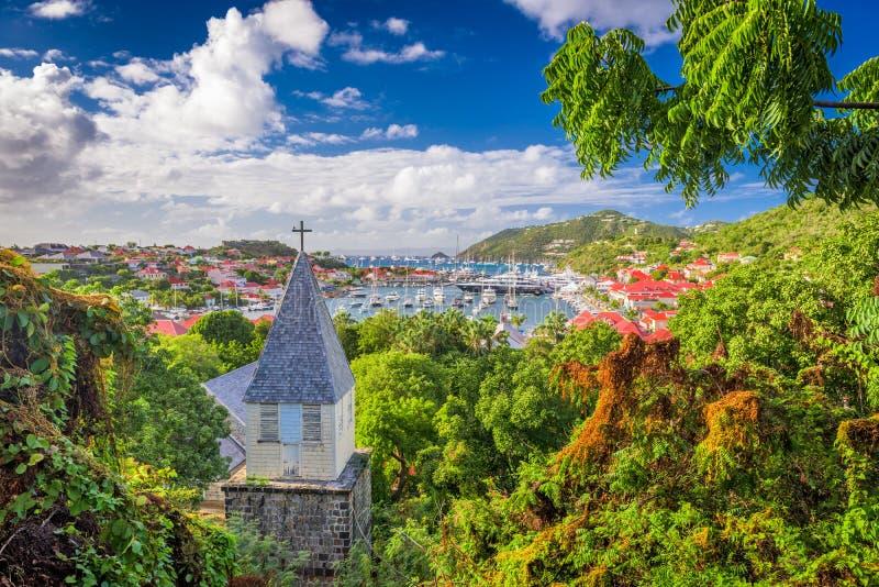Steeple sur l'île de St Barts photo libre de droits