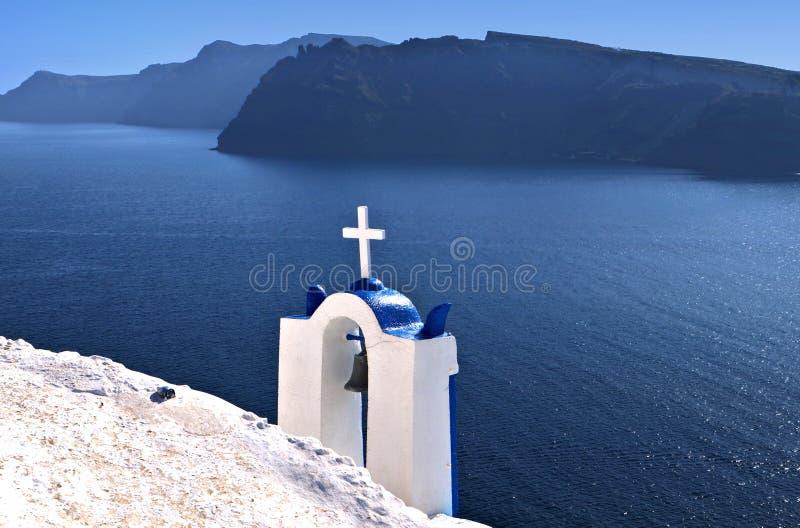 Steeple tradicional em Greece foto de stock royalty free