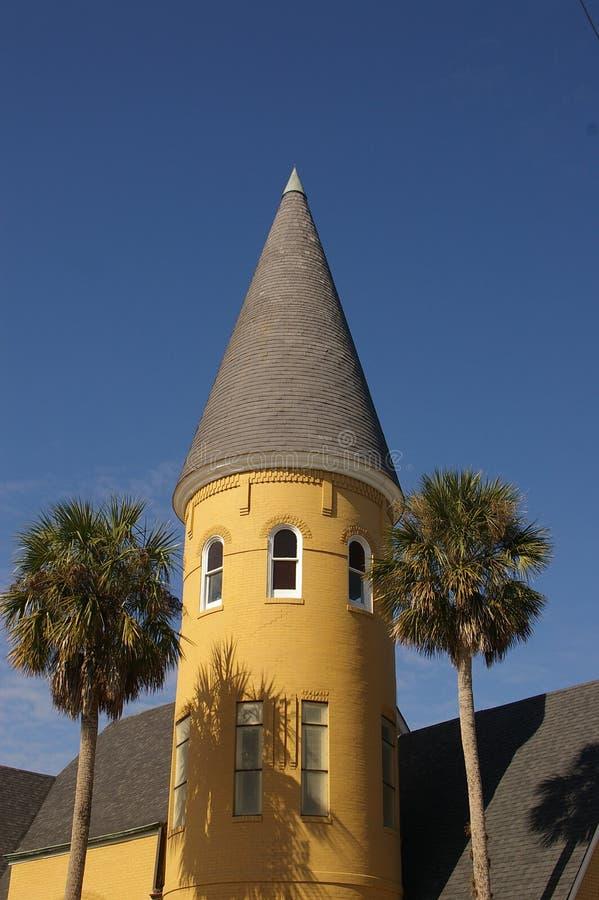 Steeple tropical da igreja foto de stock royalty free