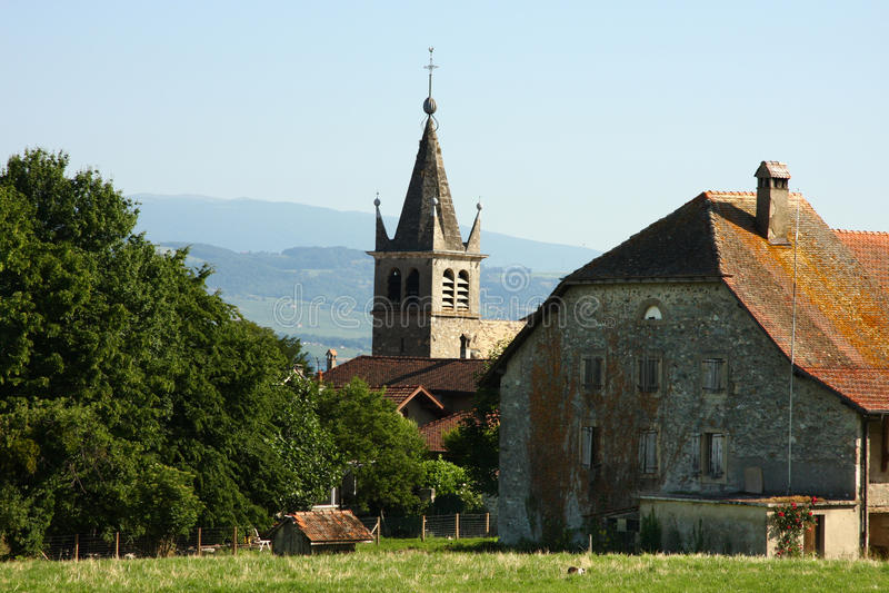 Steeple velho da igreja imagens de stock royalty free