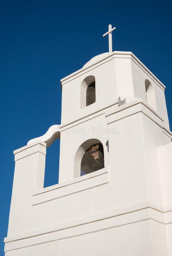 Steeple, vieille mission d'Adobe à Scottsdale image stock