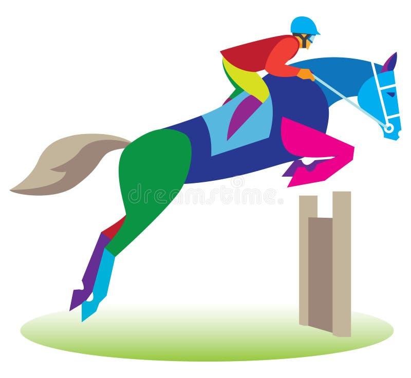 reiter auf einem pferdespringen vektor abbildung