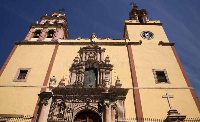 Steeples Door Bells Basilica Guanajuato Mexico Stock Photo