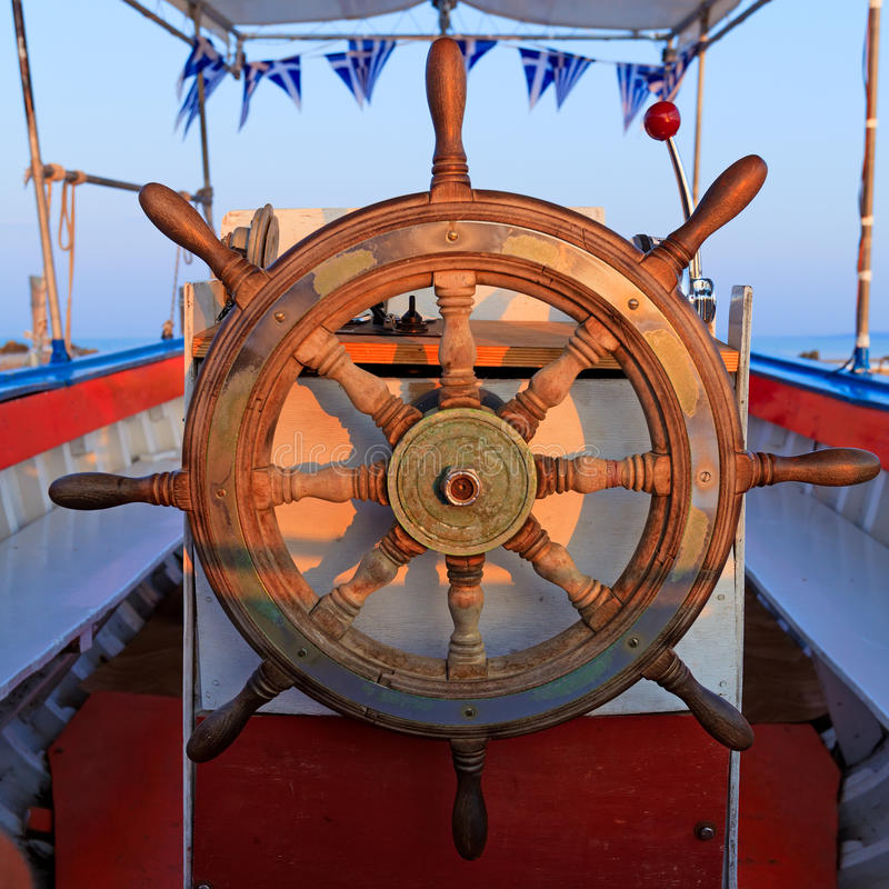 Steering boat wheel royalty free stock images