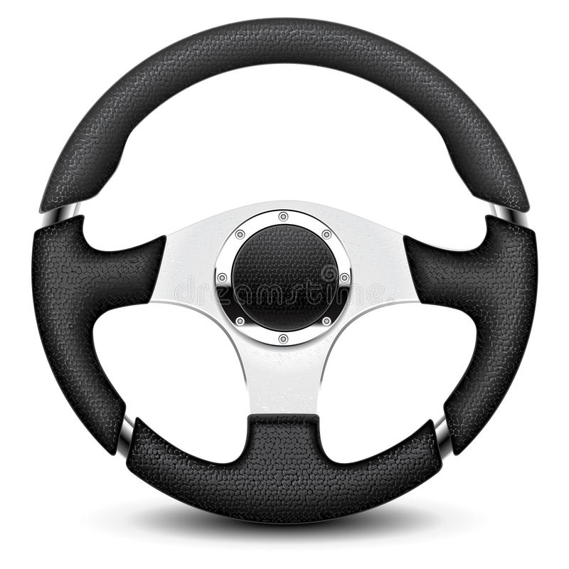 Download Steering wheel stock vector. Illustration of drive, realistic - 21509678