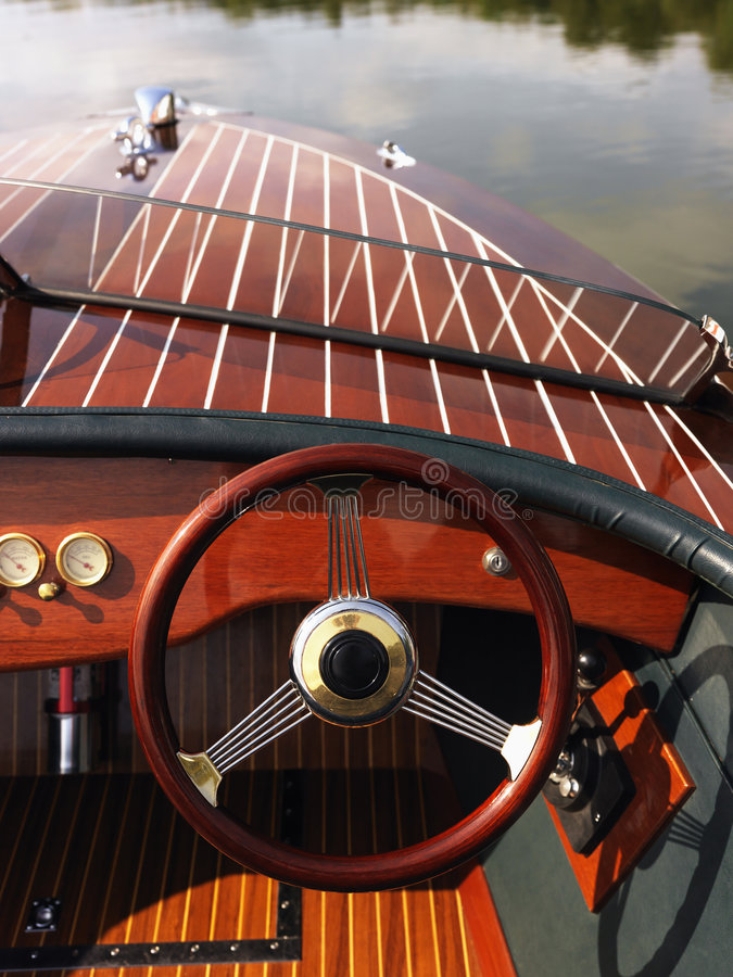 Download Steering wheel on boat. stock image. Image of dashboard - 3470685