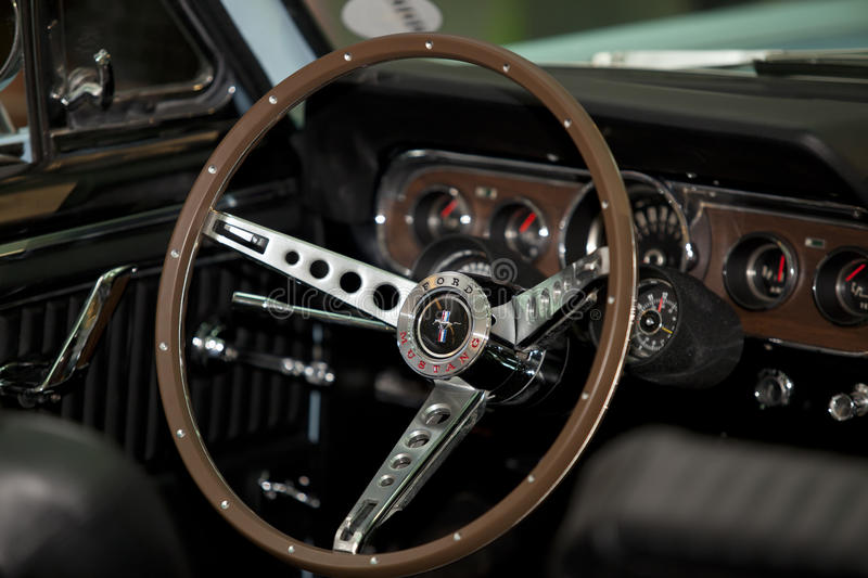 Download Steering wheel of a car editorial photography. Image of metal - 23792227