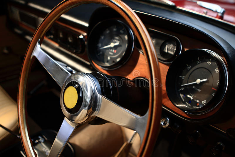 Steering Wheel And Control Panel Stock Images
