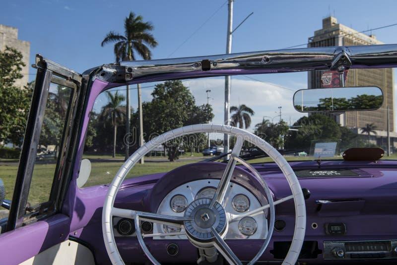 Wheel of convertible classic car, Cuba royalty free stock photos