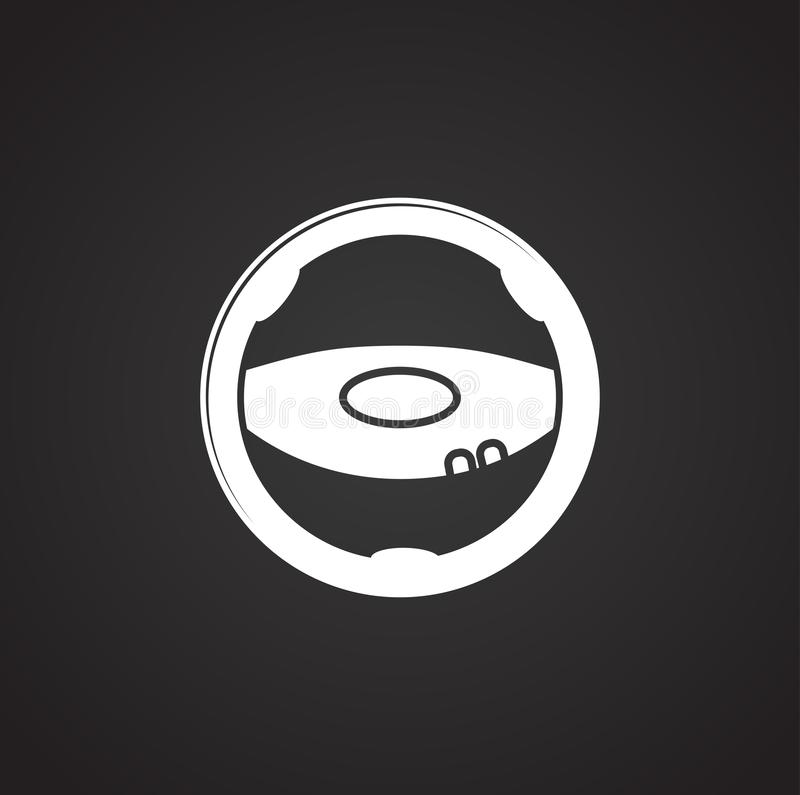 Steering wheel icon on background for graphic and web design. Simple illustration. Internet concept symbol for website. Button or mobile app vector illustration