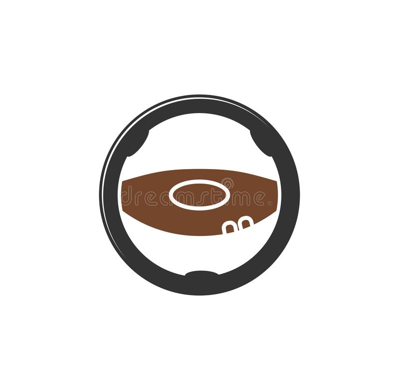 Steering wheel icon on background for graphic and web design. Simple illustration. Internet concept symbol for website. Button or mobile app stock illustration