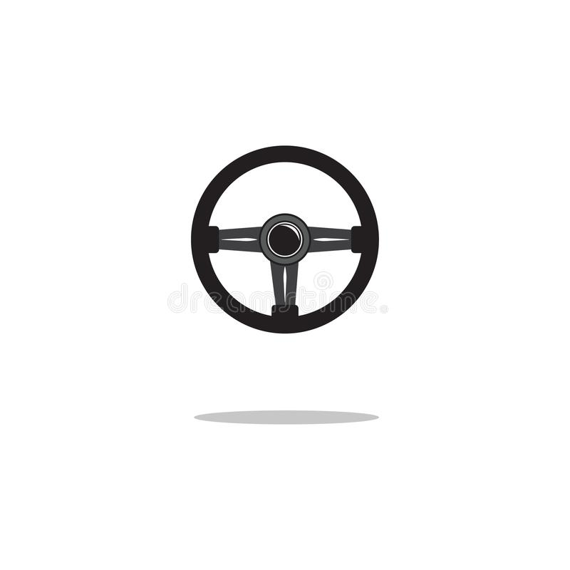 Steering wheel icon isolated. Vector illustration. Steering wheel icon flat design isolated on white background. Vector. Illustration royalty free illustration