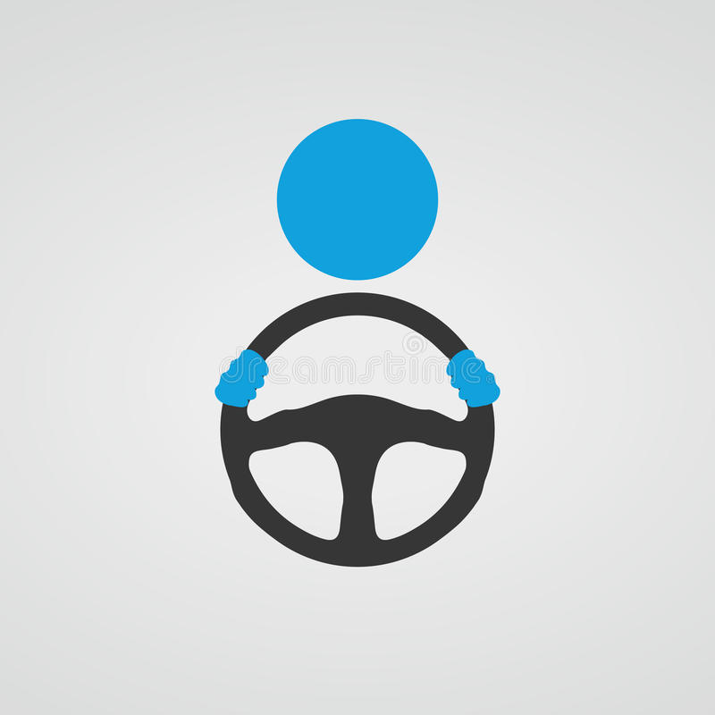 Behind The Steering Wheel : Steering wheel icon vector stock illustration