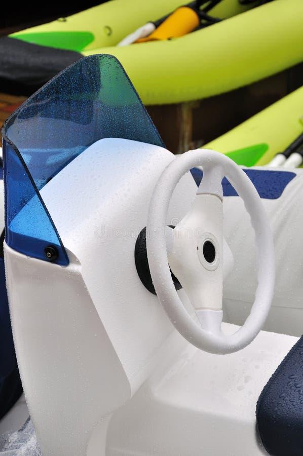 Steering wheel of light boat