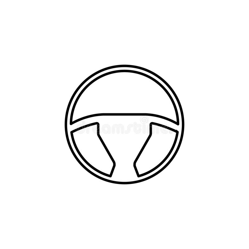 Steering wheel line icon, car and navigation royalty free illustration